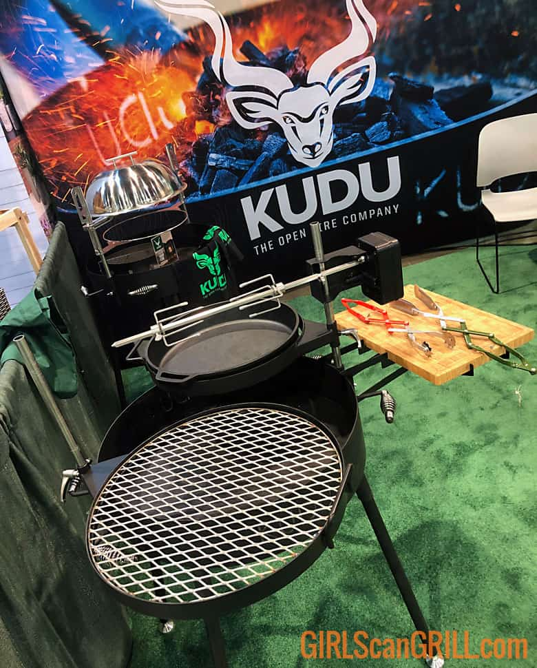 KUDU grill assembled at National Hardware Show with banner