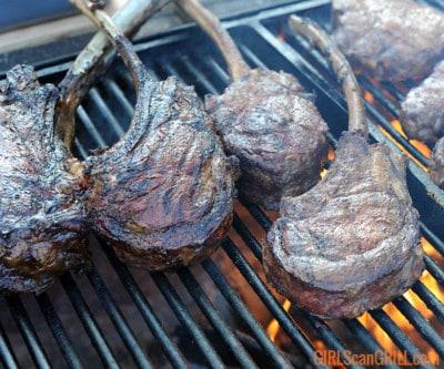 6 tomahawk steaks on a grill
