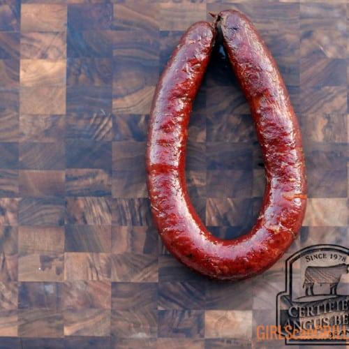 smoked beef sausage link