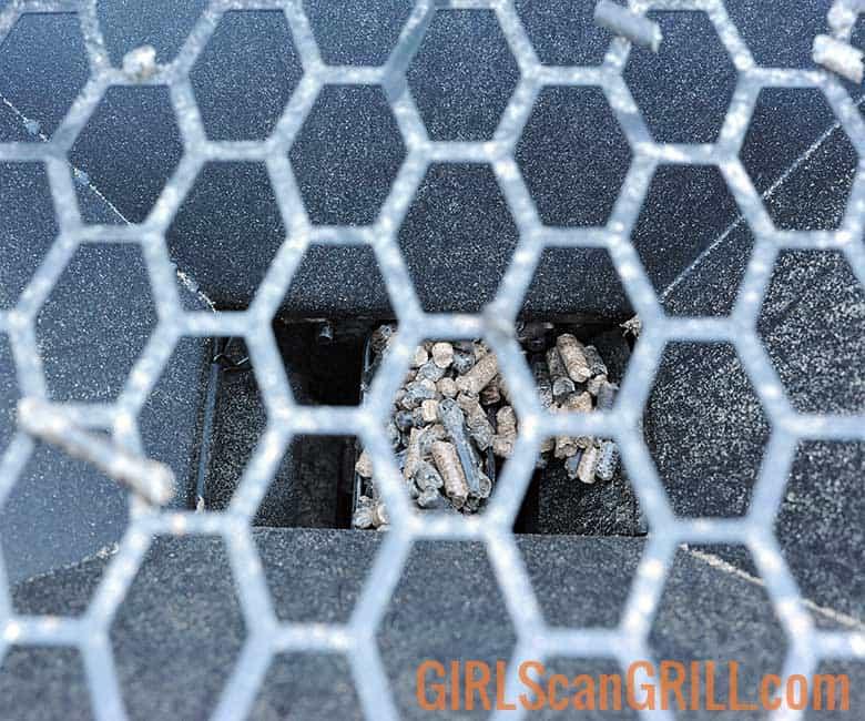 pellets falling through bottom of hopper