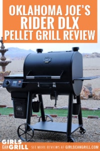 Oklahoma Joe's Rider DLX Pellet Grill