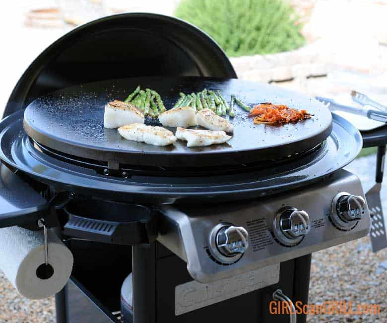 seared sea bass on Cuisinart 360 XL Griddle