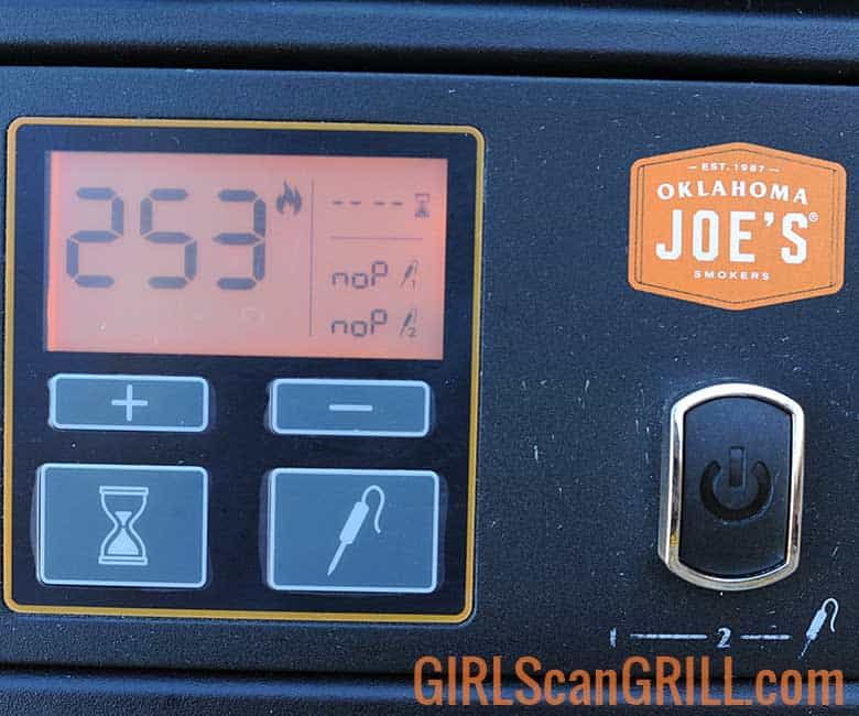 pit control panel showing sear mode