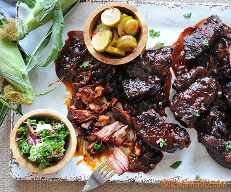 country style pork ribs platter