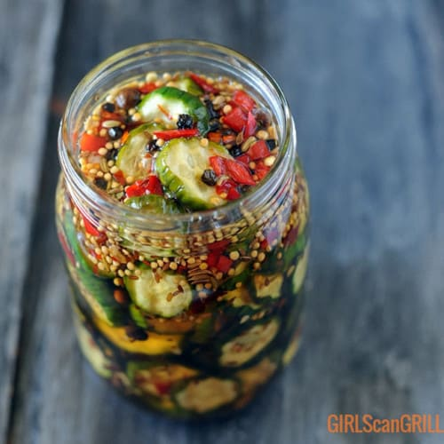 jar of bread and butter pickles