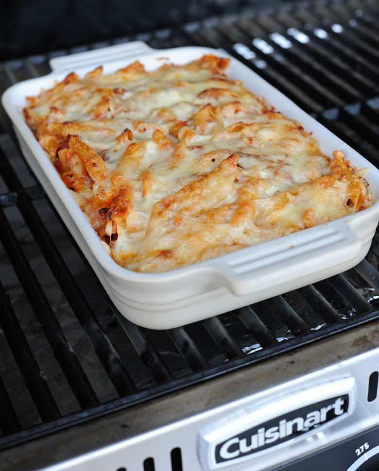 baked ziti on Cuisinart pellet grill
