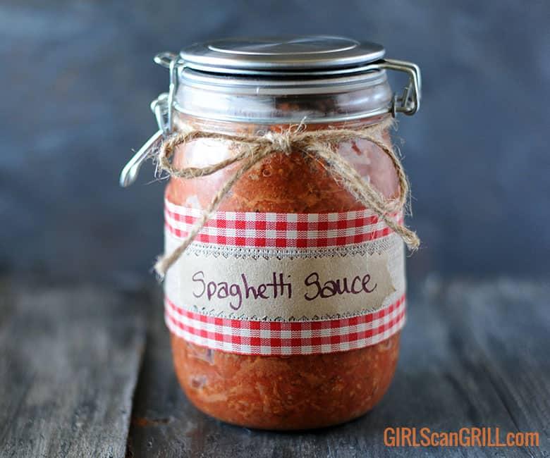 jar of Smoked Homemade Spaghetti Sauce