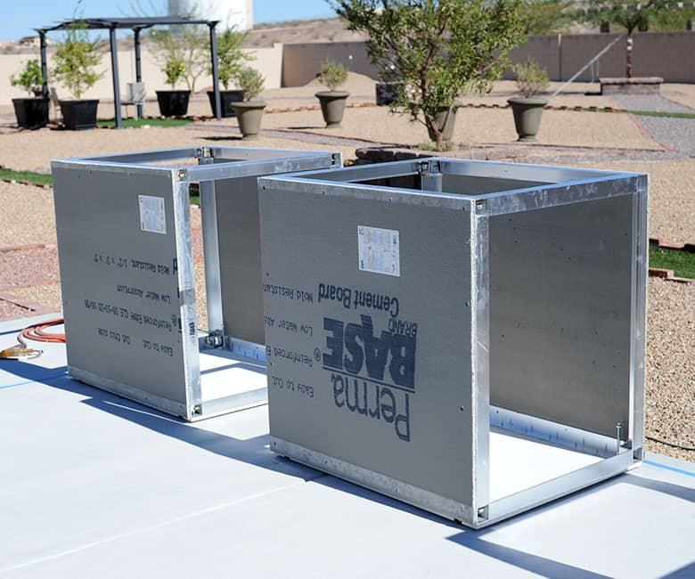 Grillnetics aluminum frame kit with permabase sides