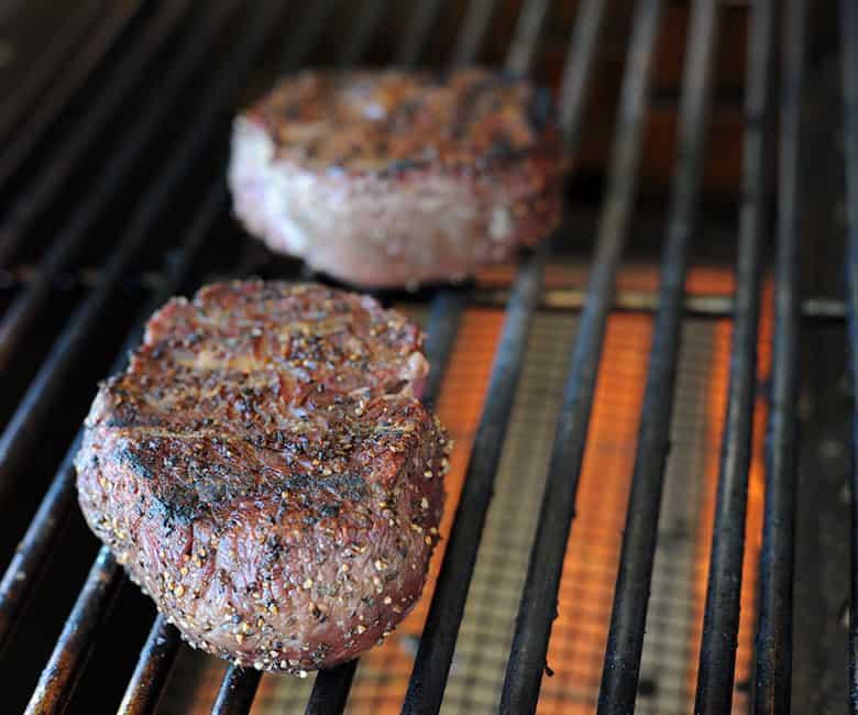 seared filets on Aspire grill