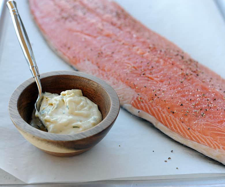 crispy grilled salmon
