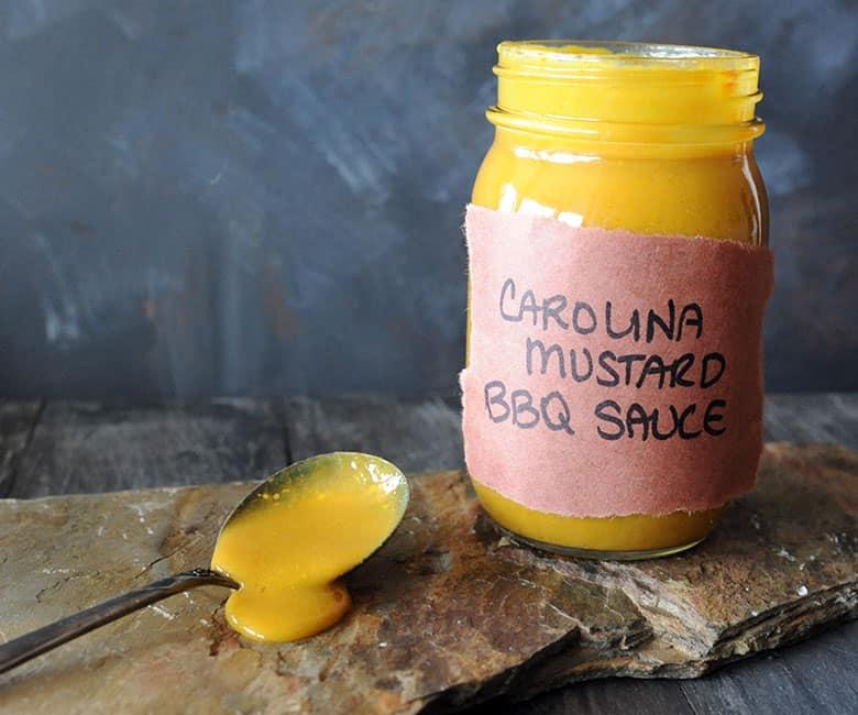 Carolina Mustard BBQ Sauce in jar