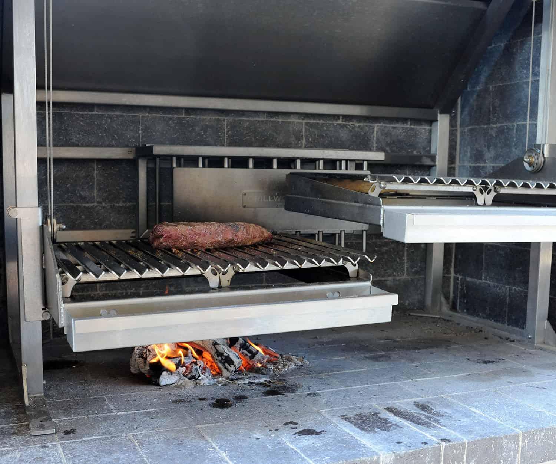 tri tip steak on grill