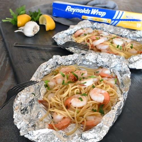 Grilled Shrimp Scampi Foil Packet
