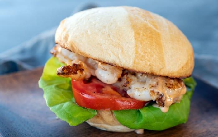 Smashed Shrimp Burger