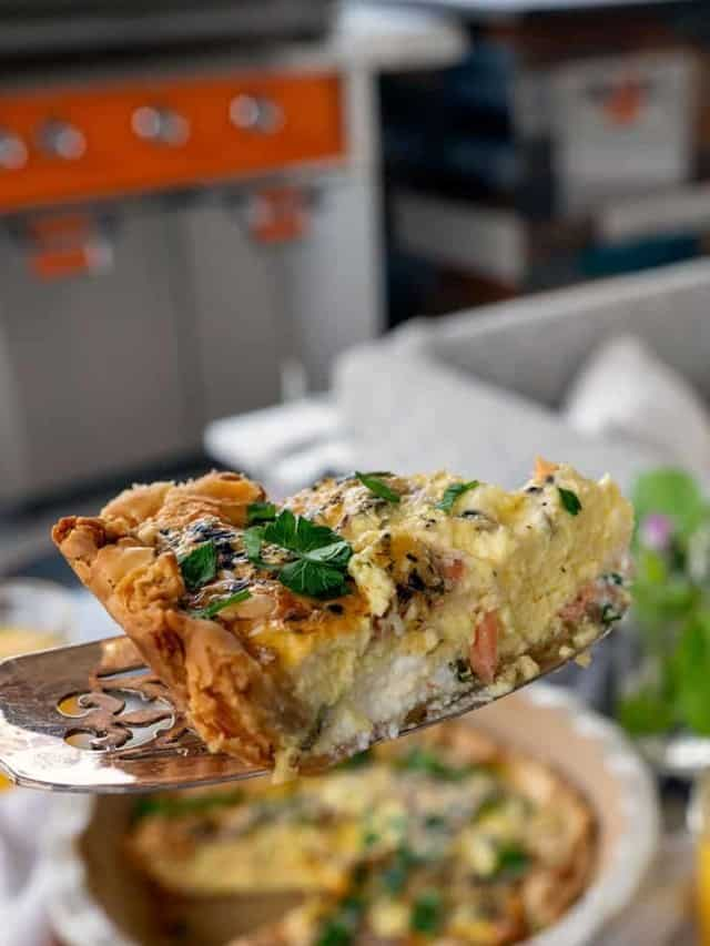 How to Bake Quiche on the Grill